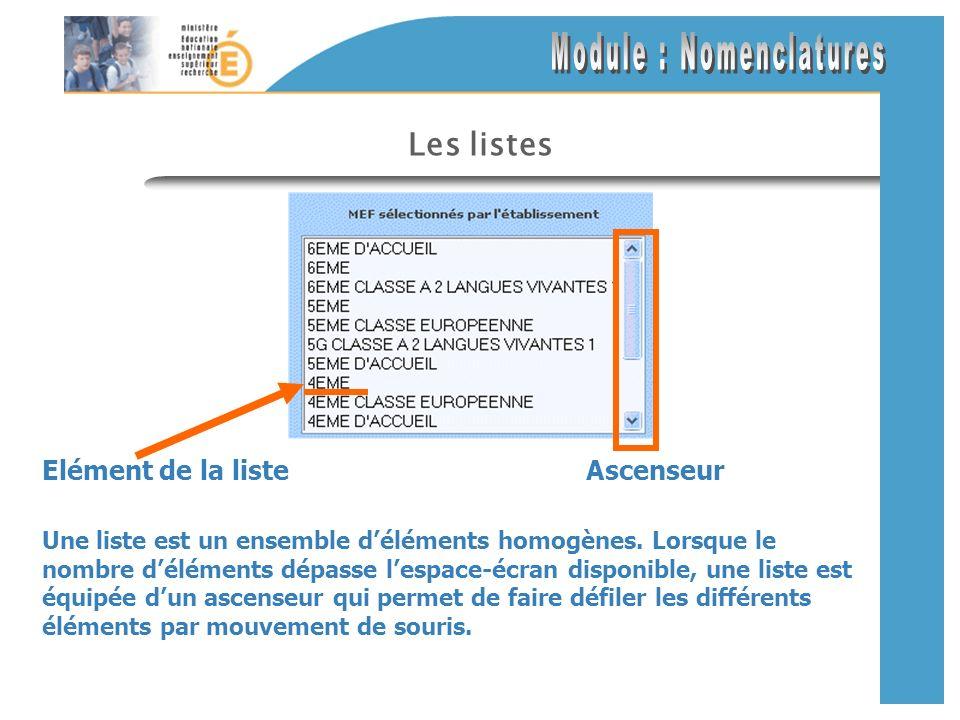 Les listes Une liste est un ensemble déléments homogènes.