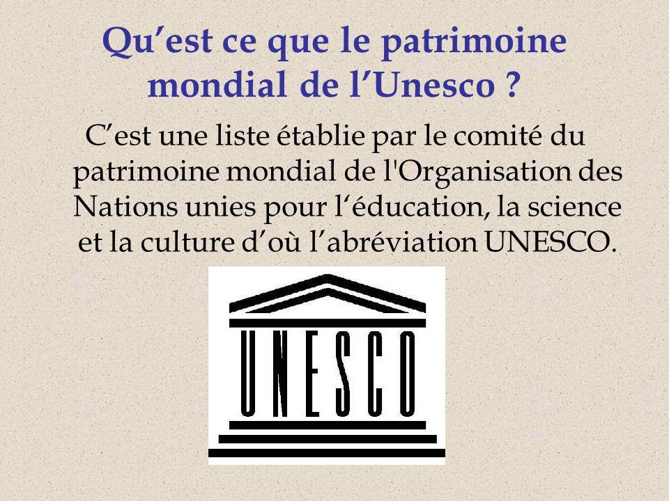 À lissue de la 35e session du Comité du patrimoine mondial, qui sest tenue à Paris (France) du 19 juin au 29 juin 2011, 936 biens y étaient inscrits répartis dans 153 États parties.