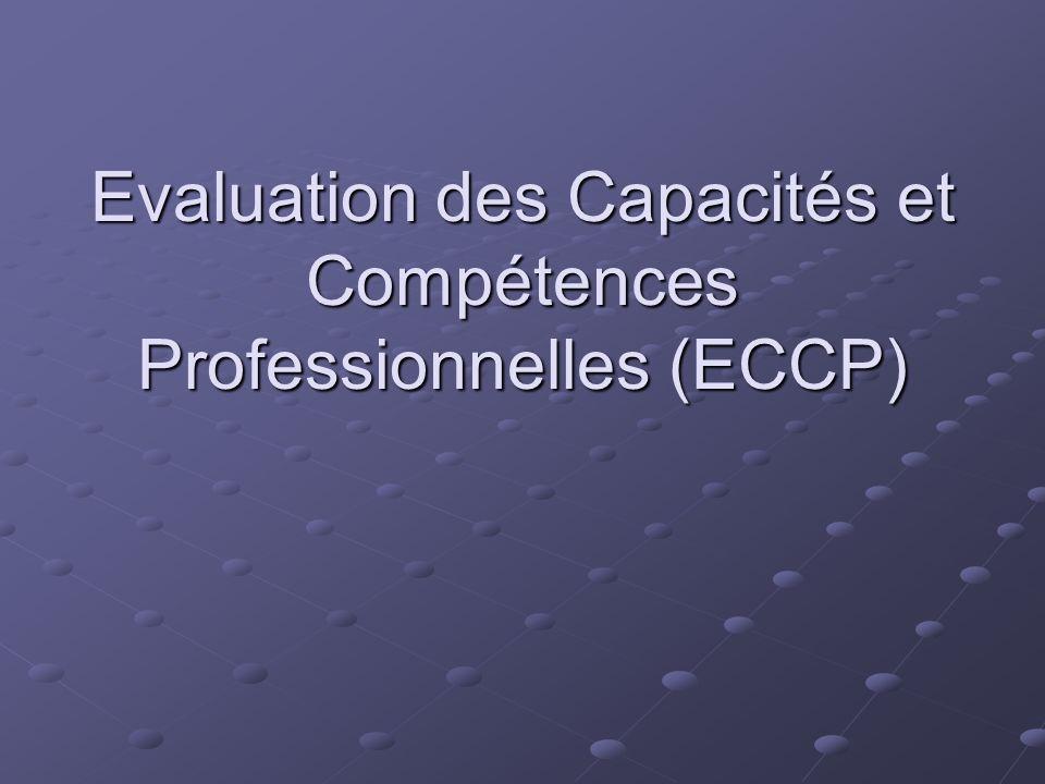 ECCP Demande des ANPE Objectif : Positionner des demandeurs demploi Un référentiel de capacités et de compétences : le fichier ROME Des tests, un entretien, une fiche de positionnement Des tests, un entretien, une fiche de positionnement