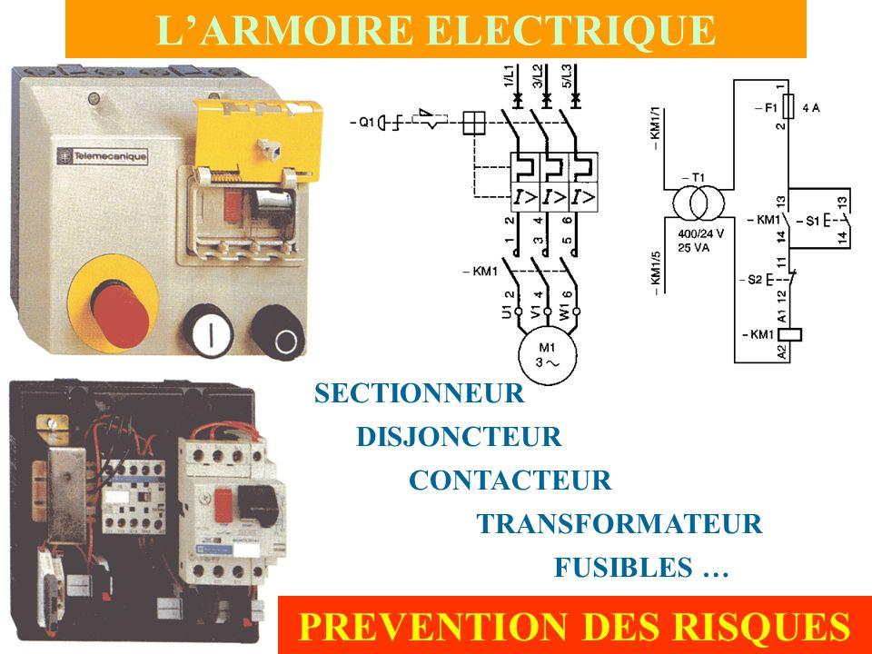 LARMOIRE ELECTRIQUE SECTIONNEUR DISJONCTEUR CONTACTEUR TRANSFORMATEUR PREVENTION DES RISQUES FUSIBLES …