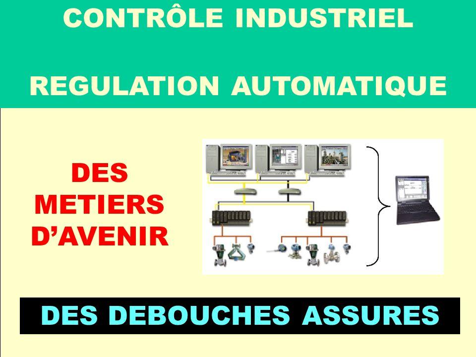 Conclusion CONTRÔLE INDUSTRIEL REGULATION AUTOMATIQUE DES METIERS DAVENIR DES DEBOUCHES ASSURES