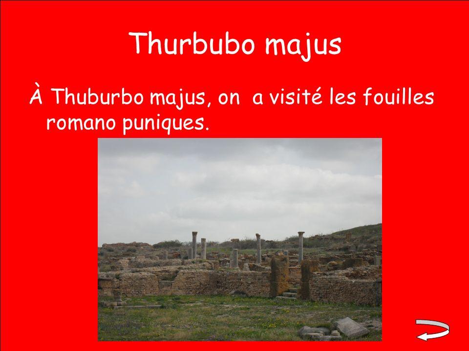 Thurbubo majus À Thuburbo majus, on a visité les fouilles romano puniques.