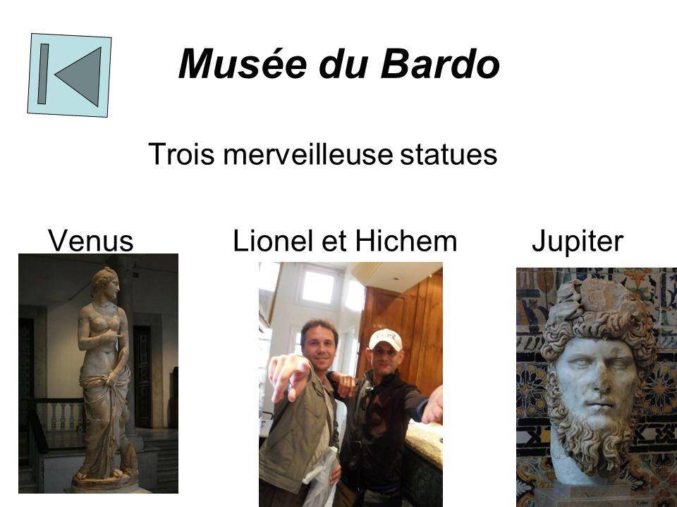 Musée du Bardo Trois merveilleuse statues Venus Lionel et Hichem Jupiter