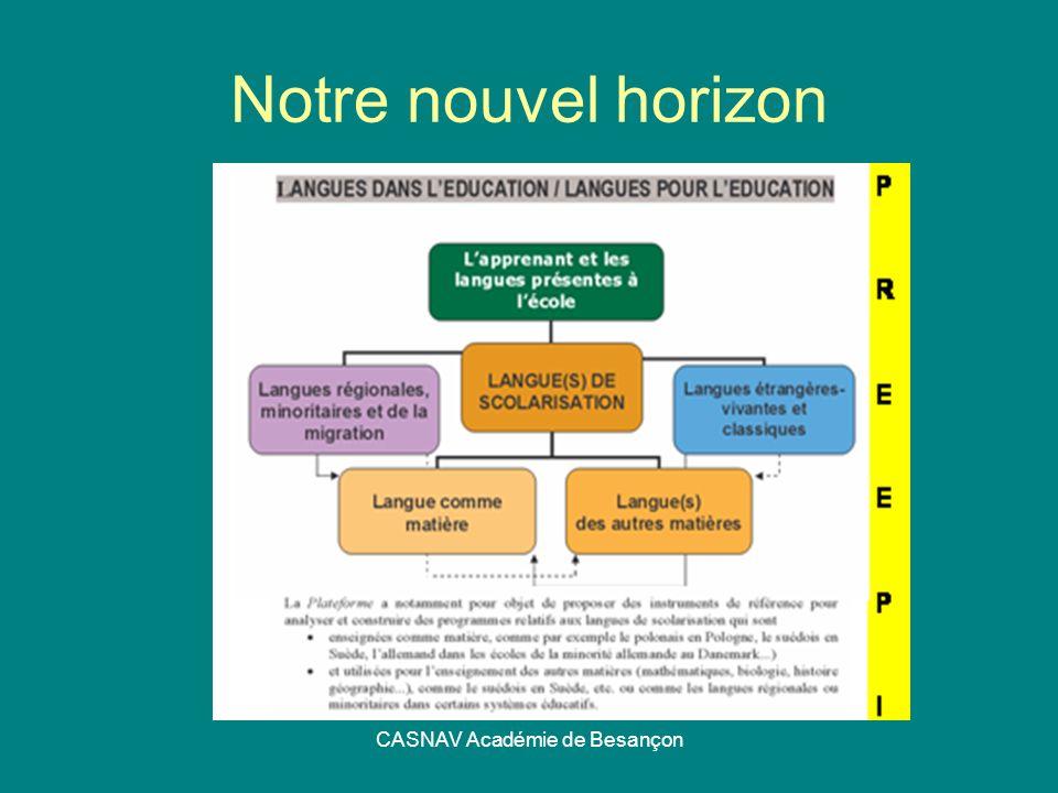 CASNAV Académie de Besançon Notre nouvel horizon