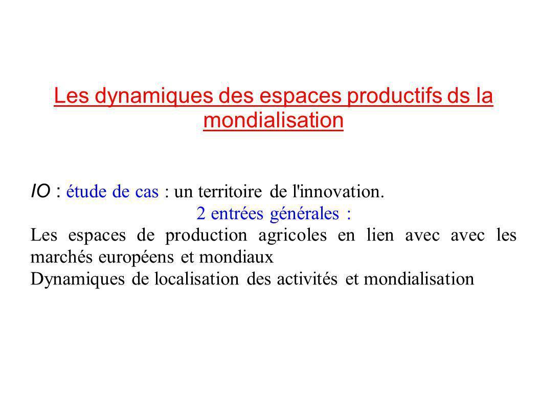 Les dynamiques des espaces productifs ds la mondialisation IO : étude de cas : un territoire de l innovation.