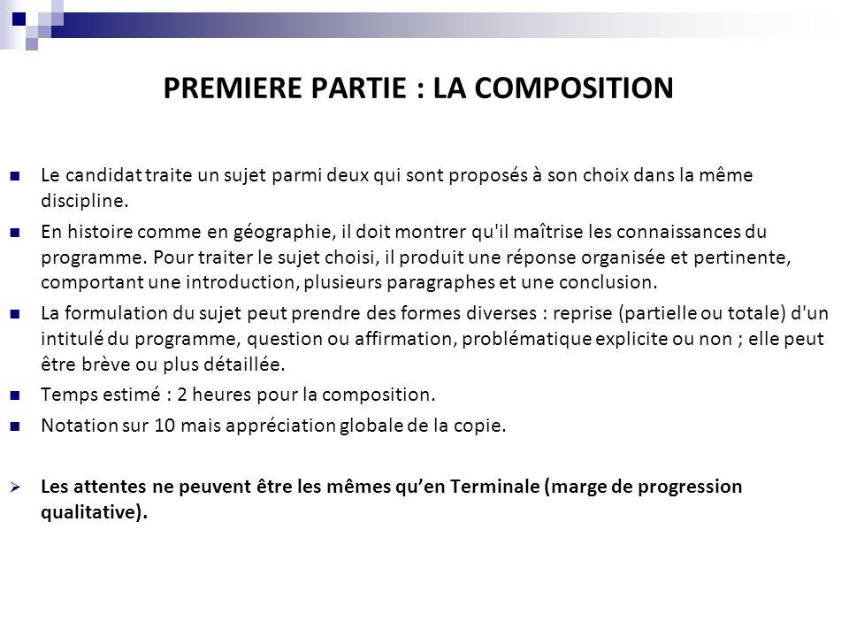LA COMPOSITION DE GEOGRAPHIE Le candidat traite lun des deux sujets suivants : - Sujet 1 : La présence française dans le monde.