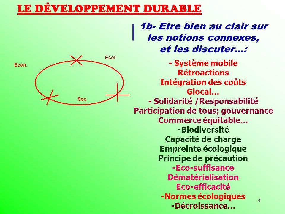 4 LE DÉVELOPPEMENT DURABLE Econ.Soc Ecol.