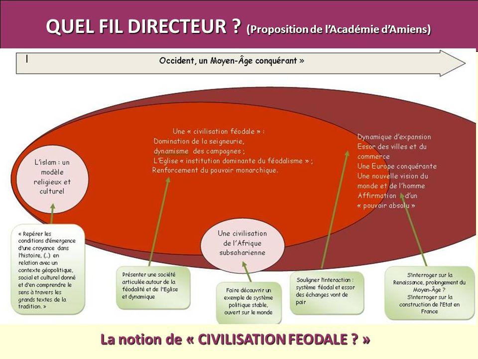 QUEL FIL DIRECTEUR ? (Proposition de lAcadémie dAmiens) La notion de « CIVILISATION FEODALE ? »