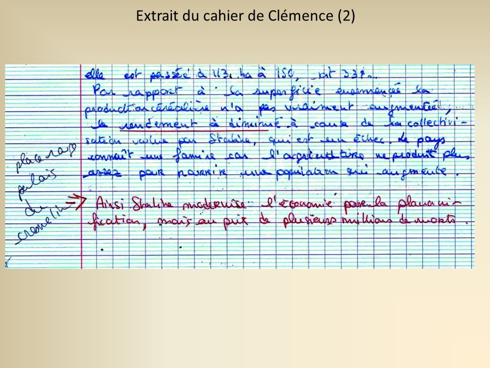 Extrait du cahier de Clémence (1)