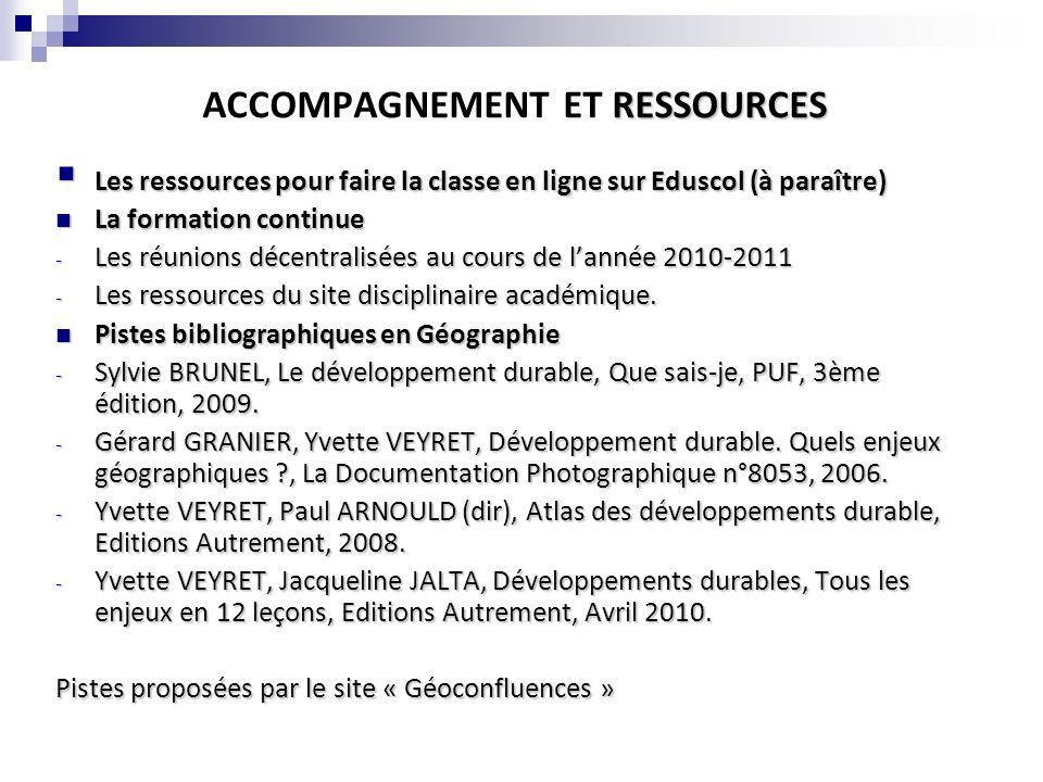 RESSOURCES ACCOMPAGNEMENT ET RESSOURCES Les ressources pour faire la classe en ligne sur Eduscol (à paraître) Les ressources pour faire la classe en l
