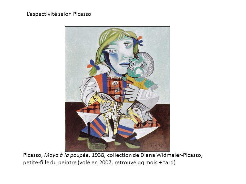 Picasso, Maya à la poupée, 1938, collection de Diana Widmaier-Picasso, petite-fille du peintre (volé en 2007, retrouvé qq mois + tard) Laspectivité selon Picasso