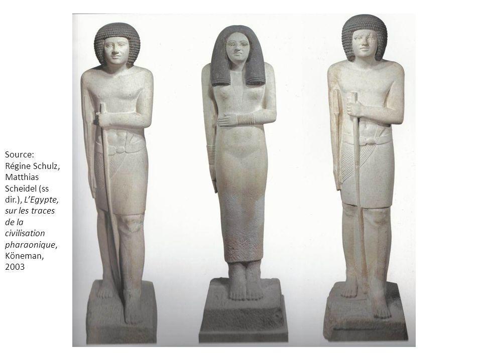 Source: Régine Schulz, Matthias Scheidel (ss dir.), LEgypte, sur les traces de la civilisation pharaonique, Köneman, 2003