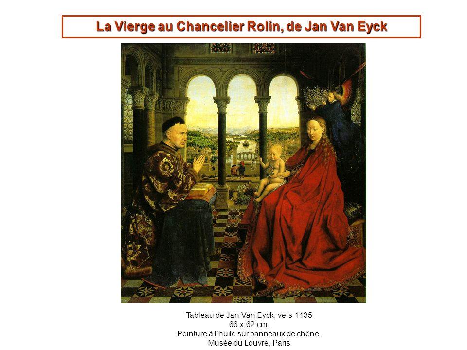 La Vierge au Chancelier Rolin, de Jan Van Eyck Tableau de Jan Van Eyck, vers 1435 66 x 62 cm. Peinture à lhuile sur panneaux de chêne. Musée du Louvre