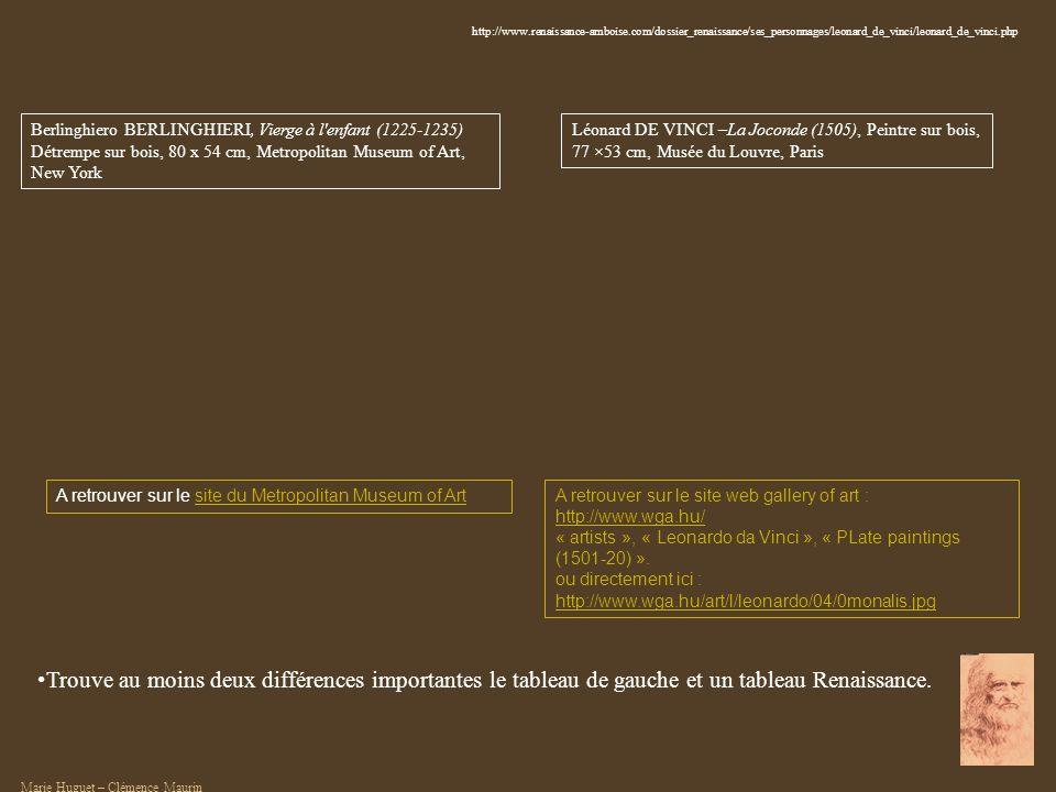 http://www.renaissance-amboise.com/dossier_renaissance/ses_personnages/leonard_de_vinci/leonard_de_vinci.php Berlinghiero BERLINGHIERI, Vierge à l'enf
