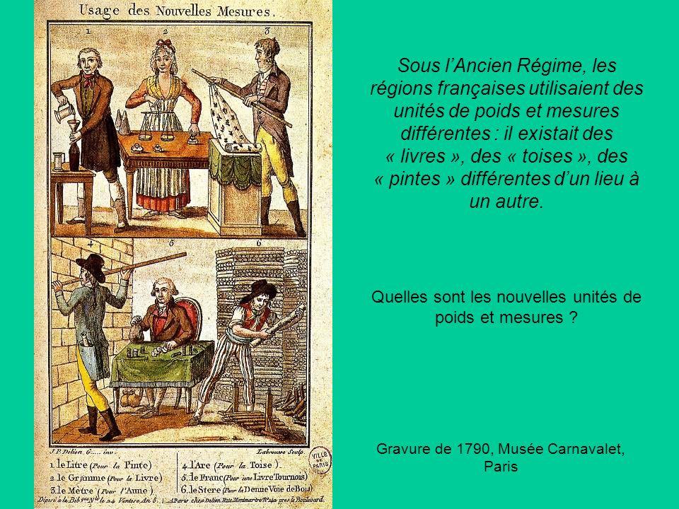 Sous lAncien Régime, les régions françaises utilisaient des unités de poids et mesures différentes : il existait des « livres », des « toises », des «