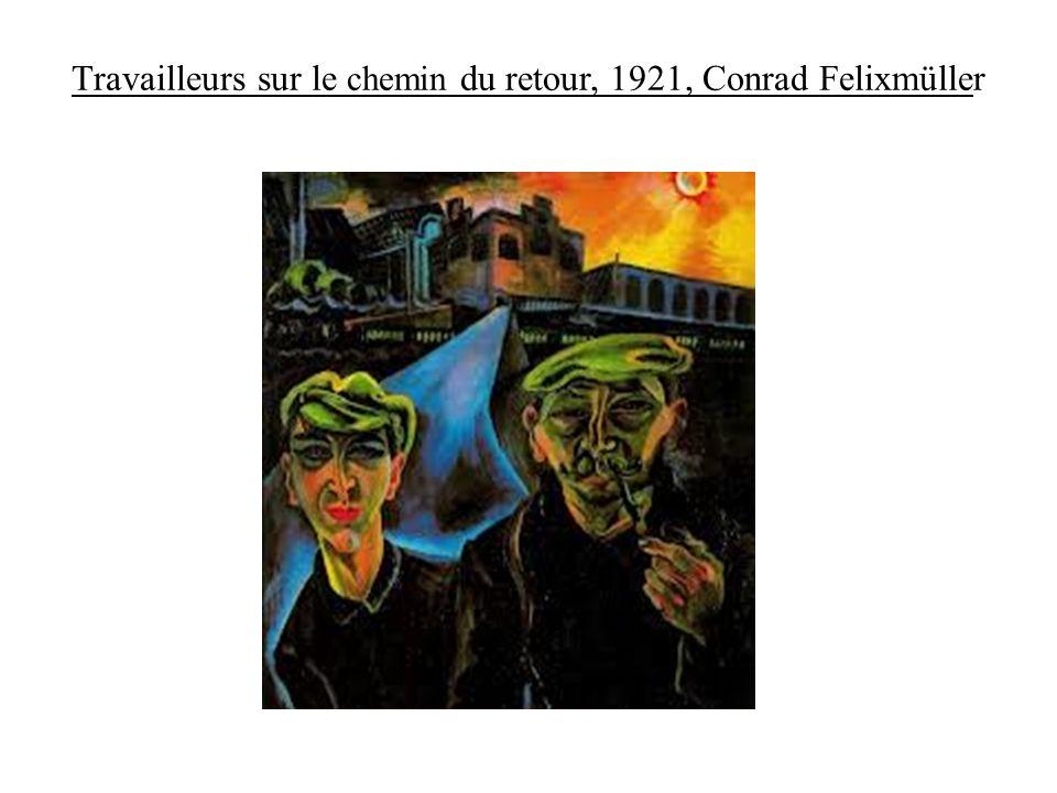 Conrad Felixmüller (1897 -1977) : lengagement politique dun artiste davant-garde Peintre et graveur allemand né à Dresde, Felixmüller participe à la révolution spartakiste et milite au sein du KPD à partir de 1919.