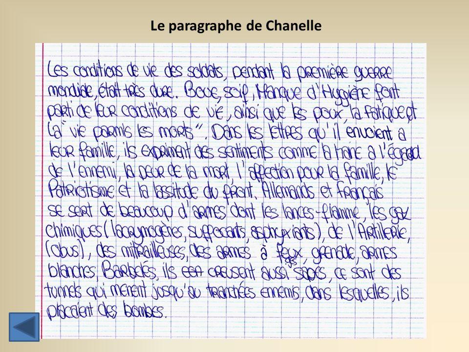 Le paragraphe de Chanelle