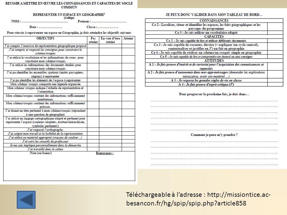 Téléchargeable à ladresse : http://missiontice.ac- besancon.fr/hg/spip/spip.php?article858