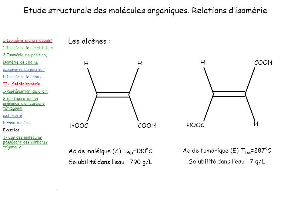 Etude structurale des molécules organiques. Relations disomérie I-Isomérie plane (rappels) 1-Isomérie de constitution 2-Isomérie de position, isomérie