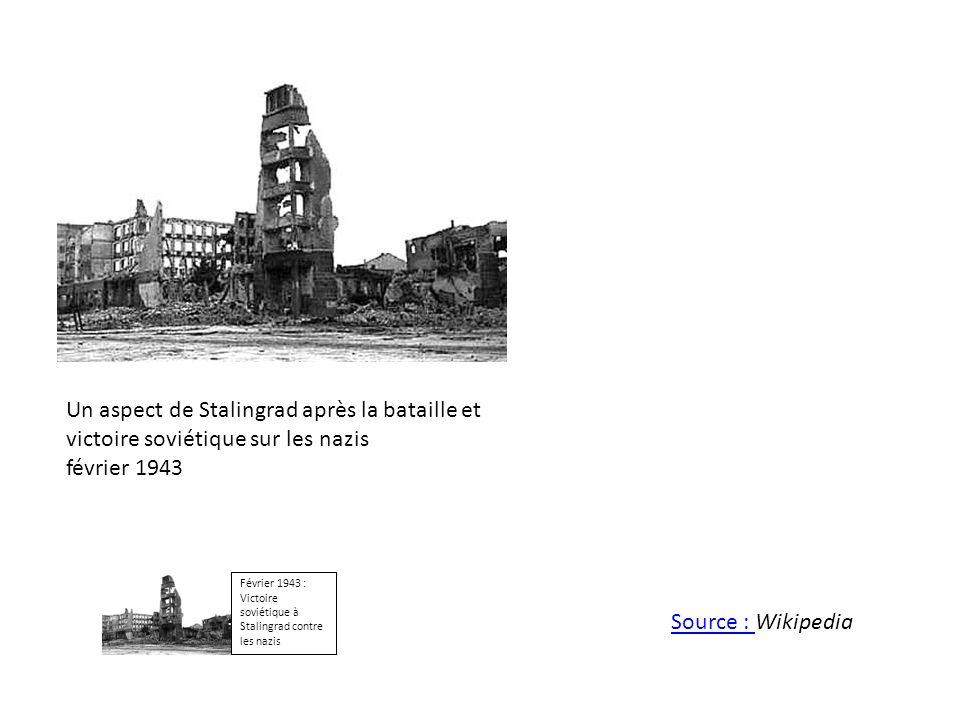 Un aspect de Stalingrad après la bataille et victoire soviétique sur les nazis février 1943 Février 1943 : Victoire soviétique à Stalingrad contre les