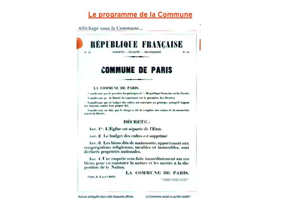 Le programme de la Commune