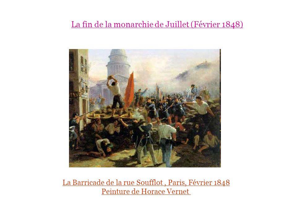 La Barricade de la rue Soufflot, Paris, Février 1848 Peinture de Horace Vernet La fin de la monarchie de Juillet (Février 1848)