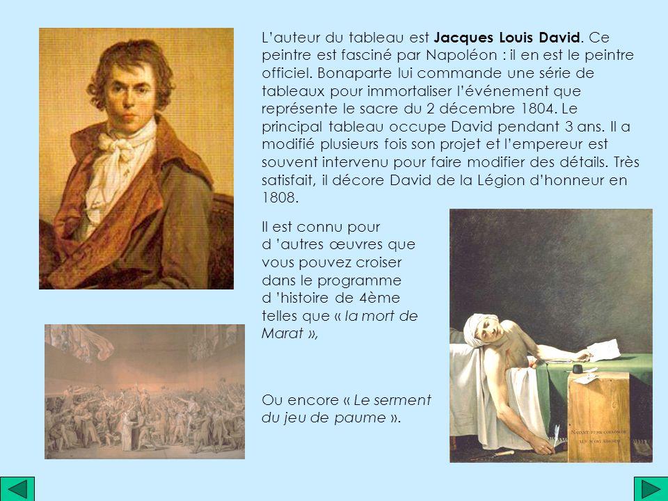Étude d un tableau de Jacques Louis DAVID: « Le Sacre de Napoléon » Étude d un tableau de Jacques Louis DAVID: « Le Sacre de Napoléon »