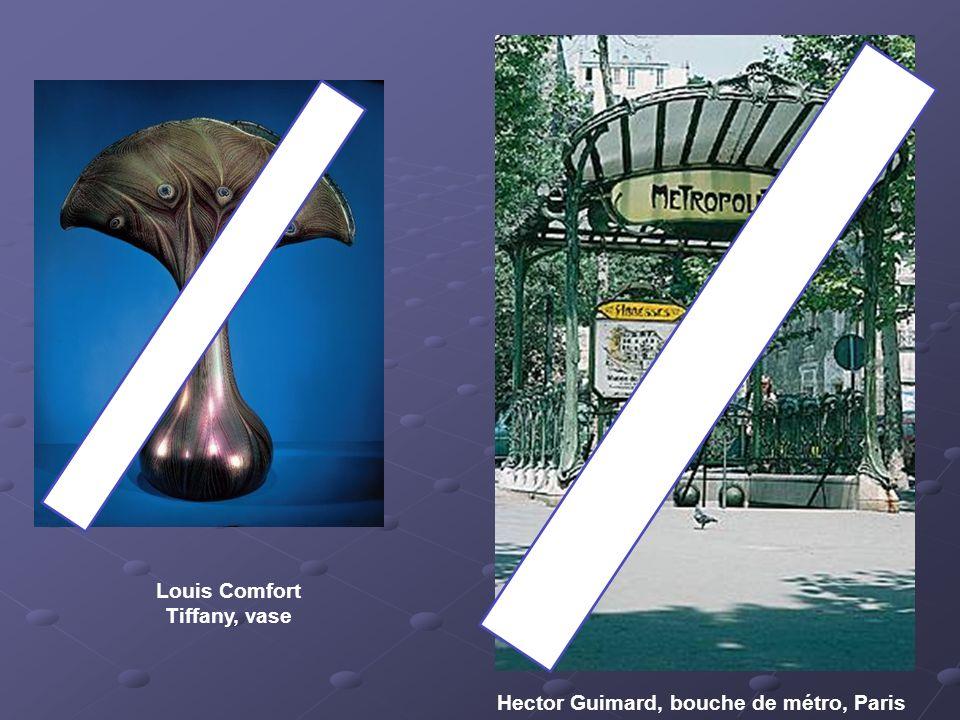 Louis Comfort Tiffany, vase Hector Guimard, bouche de métro, Paris