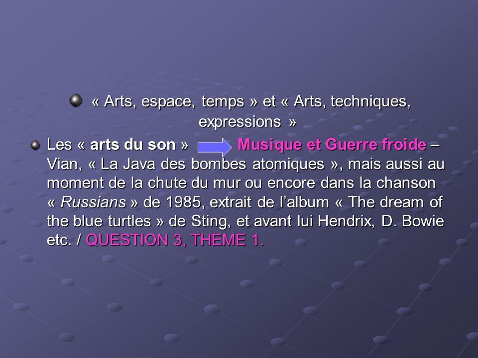 « Arts, espace, temps » et « Arts, techniques, expressions » « Arts, espace, temps » et « Arts, techniques, expressions » Les « arts du son » Musique