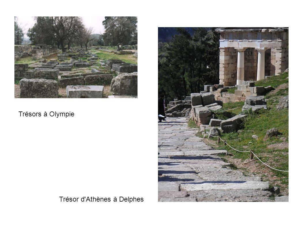 Trésors à Olympie Trésor d'Athènes à Delphes