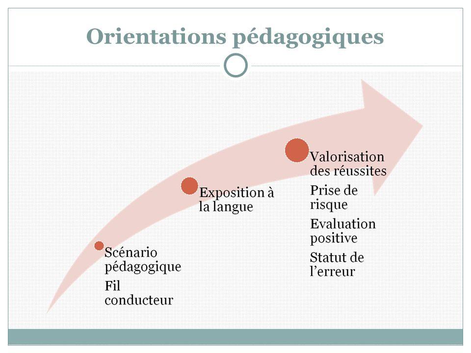 Orientations pédagogiques