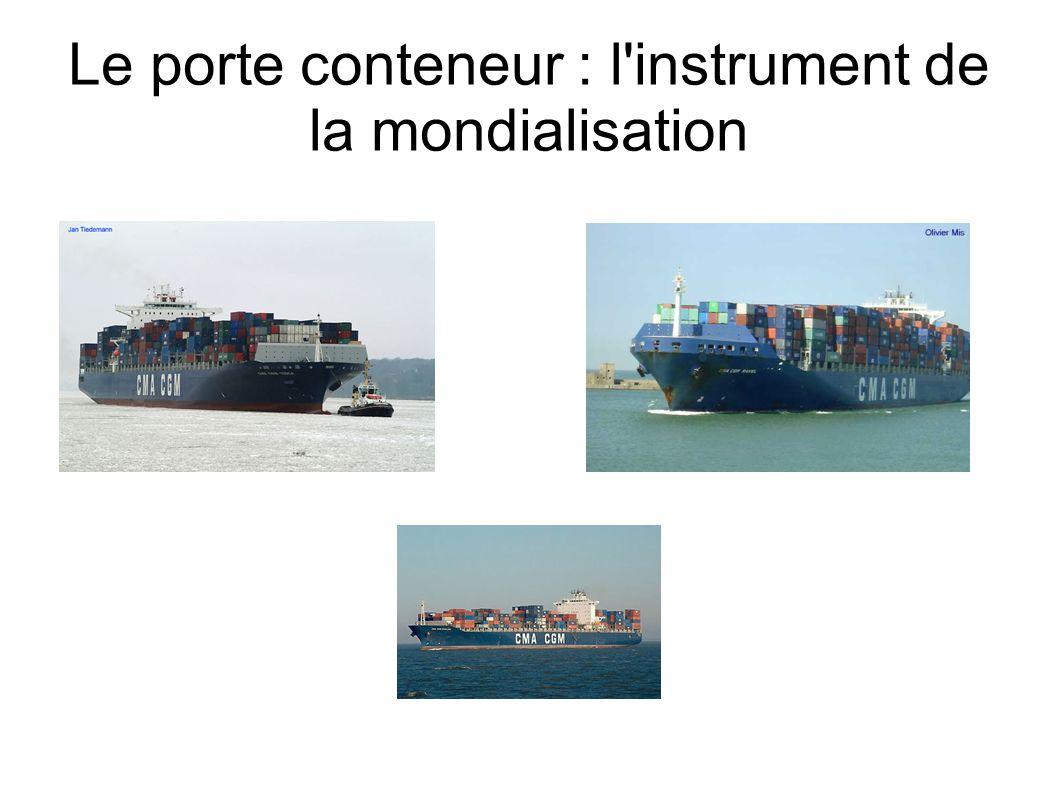 Une accélération de son utilisation En 1992 : 2 000 navires porte- conteneurs.