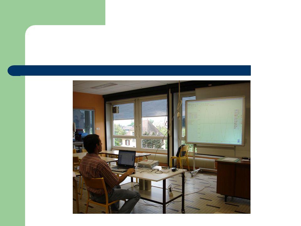 En Sciences Physiques au lycée Publication de la mémoire de la séance (formats ppt, pdf, html, doc,…) Permet denvisager une exploitation en travail autonome (ENT, intranet, internet,…)