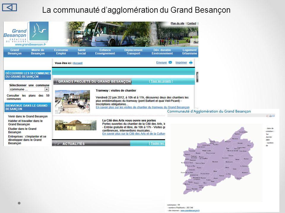 La communauté dagglomération du Grand Besançon