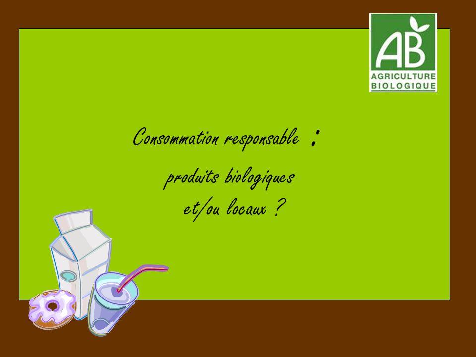 Consommation responsable : produits biologiques et/ou locaux ?