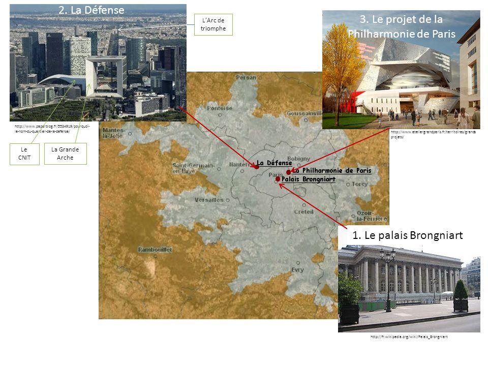 http://www.paperblog.fr/5534919/pourquoi- le-nom-du-quartier-de-la-defense/ La Grande Arche LArc de triomphe Le CNIT 2. La Défense 3. Le projet de la