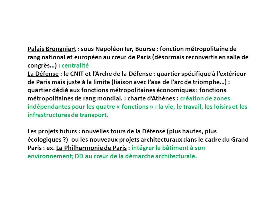 Palais Brongniart : sous Napoléon Ier, Bourse : fonction métropolitaine de rang national et européen au cœur de Paris (désormais reconvertis en salle