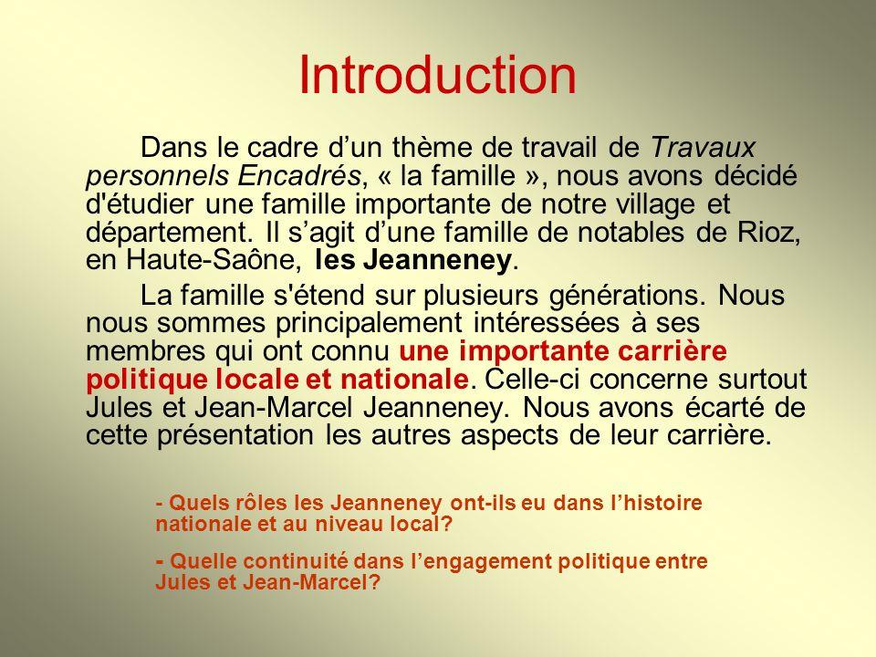 Introduction Dans le cadre dun thème de travail de Travaux personnels Encadrés, « la famille », nous avons décidé d'étudier une famille importante de