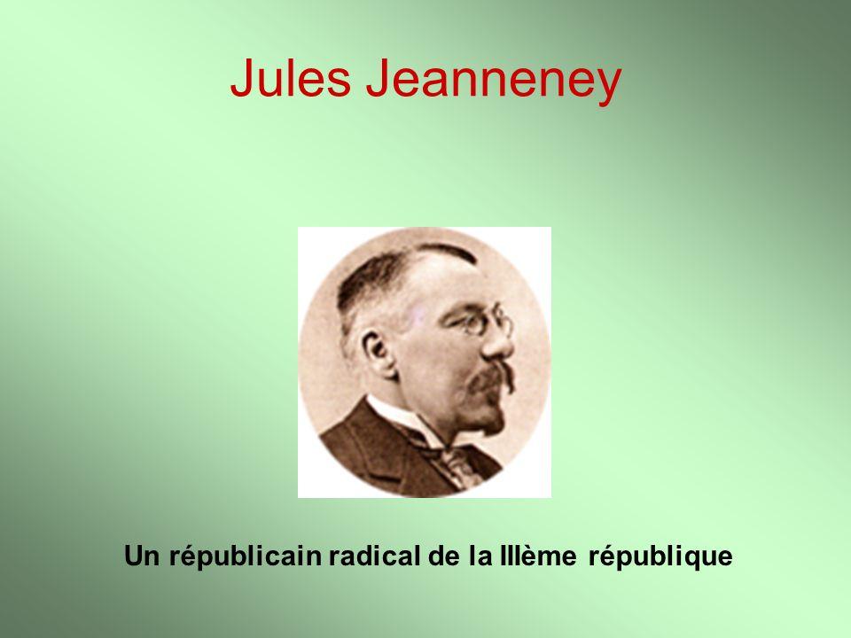 Description de la carrière politique de Jules Jeanneney