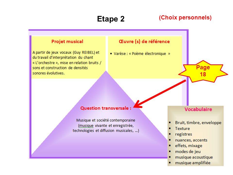 11 Etape 2 Page 18 (Choix personnels)