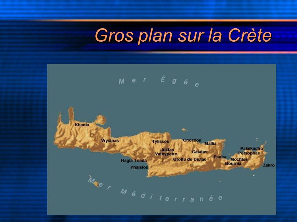 La plus grande des îles de la mer Egée est le berceau de bien des mythes.Si le plus connu est celui du minotaure,il ne doit pas occulter les autres.