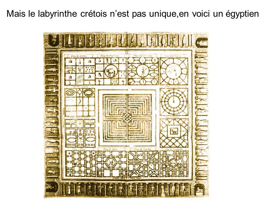 Mais le labyrinthe crétois nest pas unique,en voici un égyptien
