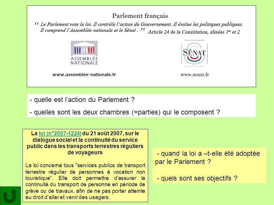 La loi (n°2007-1224) du 21 août 2007, sur le dialogue social et la continuité du service public dans les transports terrestres réguliers de voyageursl