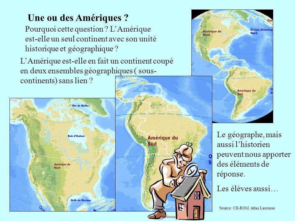 Une ou des Amériques ? Pourquoi cette question ? LAmérique est-elle un seul continent avec son unité historique et géographique ? LAmérique est-elle e