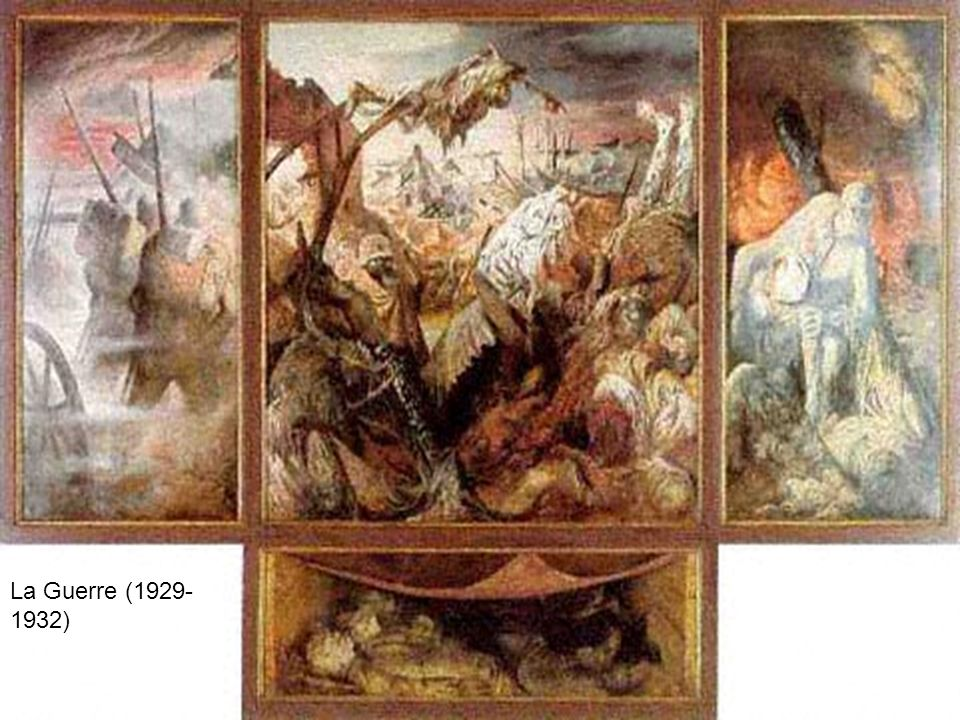 Autre exemple, la « Pragerstrasse » huile sur toile peinte en 1920 est conservée à Stuttgart.