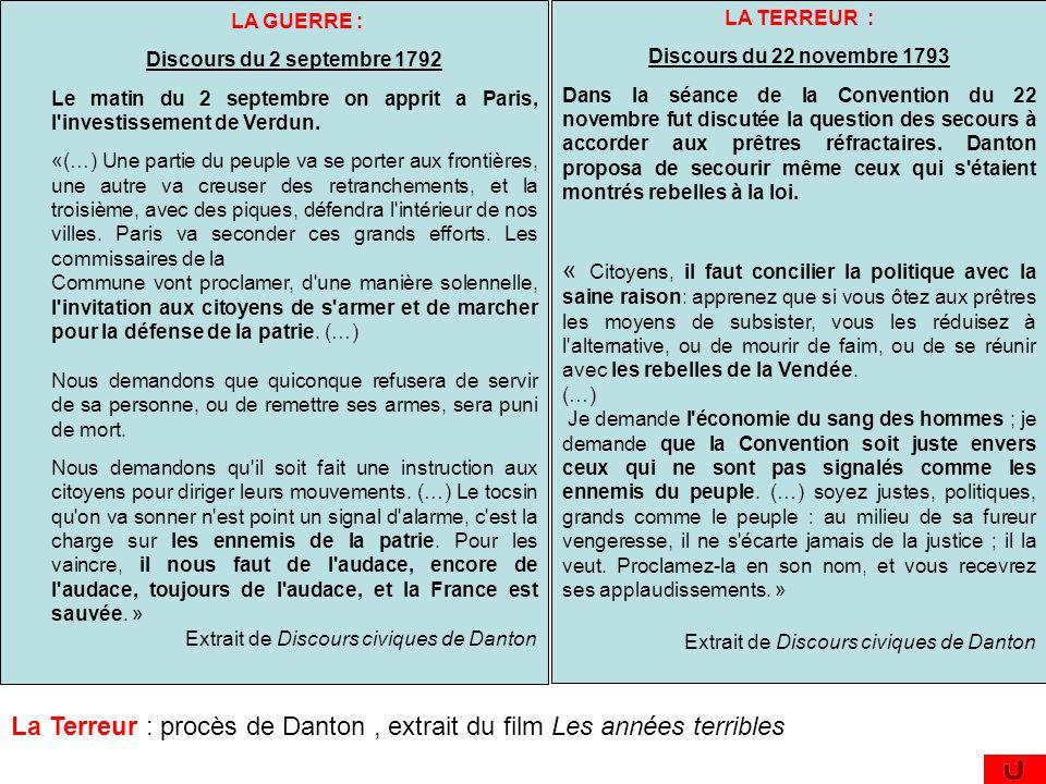 LA GUERRE : Discours du 2 septembre 1792 Le matin du 2 septembre on apprit a Paris, l'investissement de Verdun. «(…) Une partie du peuple va se porter