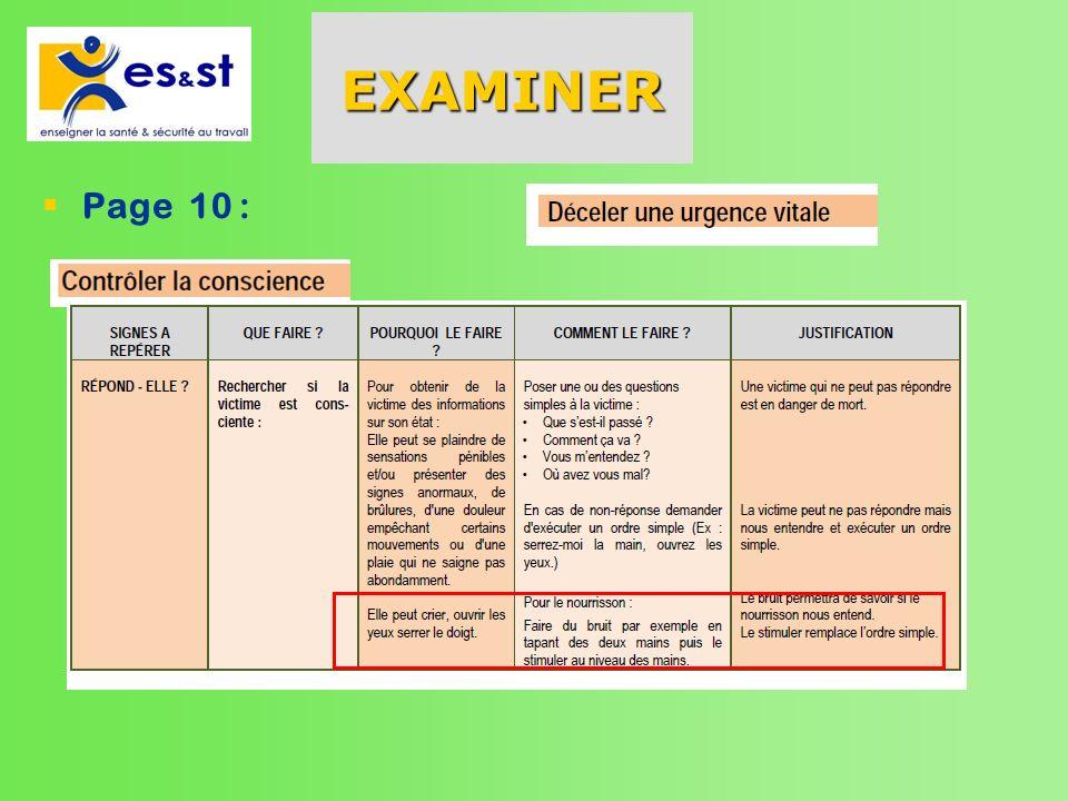 Examiner (suite) Page 11: Victime sur le ventre Page 12 : victime sur le dos