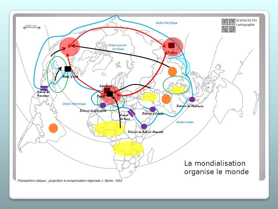 Grands pôles de puissance mondiaux espace concentrant un nombre important de PMA