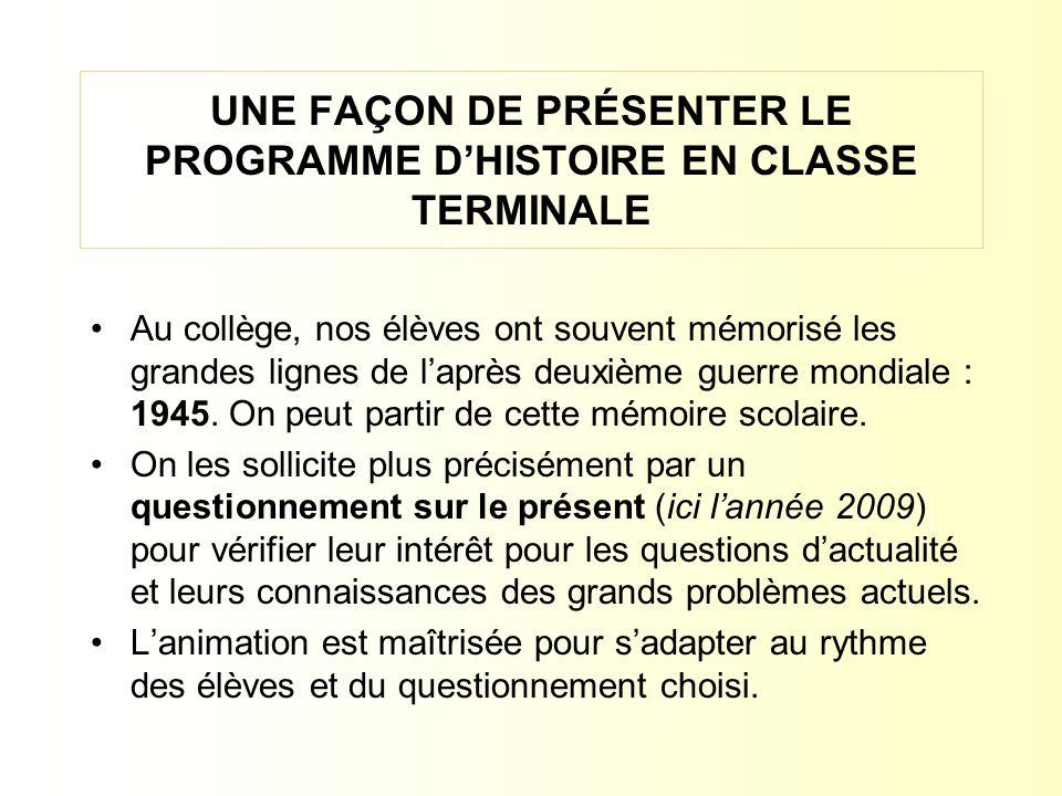LE MONDE EN 1945LE MONDE EN 2009 1.