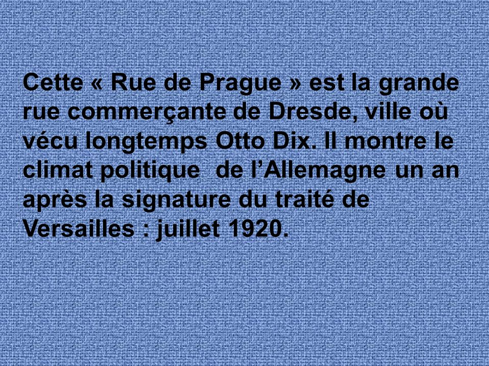 Étude de peinture Pragerstrasse, par Otto Dix.